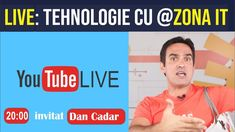 LIVE: Tehnologie cu Dan Cadar de la #Zona IT Dan, Youtube, Christians, Youtubers, Youtube Movies