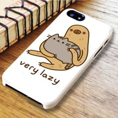 Pusheen Cat And Sloth Very Lazy iPhone 6|iPhone 6S Case