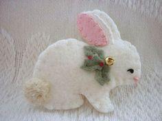 Felt Bunny Pin for Christmas Bazaar                                                                                                                                                                                 More
