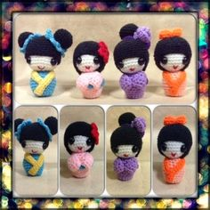 Designed With Passion: Presenting...the Friendship Kokeshi Dolls...