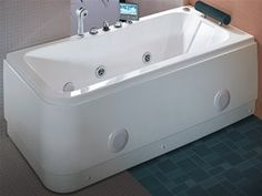 hydra pro  deluxe whirlpool bath wth tv.  left hand. 1690x800mm. - taps4less.com