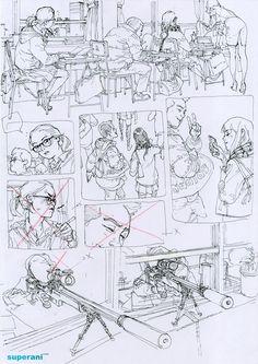 Art Sketches, Art Drawings, Character Art, Character Design, Comic Tutorial, Comic Layout, Military Drawings, Arte Sketchbook, Kim Jung