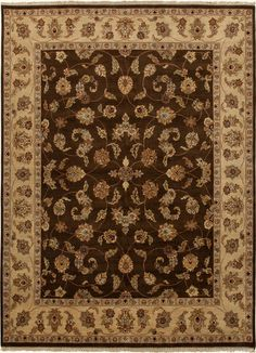 Atlantis Collection Bhoomi 100% Wool Area Rug in Cocoa Brown & Sand design by Jaipur