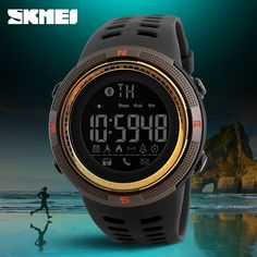 Men's Watches Inventive Sports Watch Men Heart Rate Smart Watches Bluetooth Pedometer Calorie Rechargeable Led Digital Wristwatch Reloj Hombre Skmei Watches