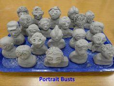 Clay Busts by Nancy Walkup, via Slideshare