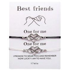 Bracelet Couple, Promise Bracelet, Couple Jewelry, Heart Bracelet, Bracelet Set, Chain Bracelets, Silver Bracelets, Link Bracelets, Birthday Gifts For Best Friend