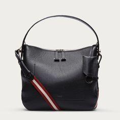 FIONA SMALL -  BLACK BOVINE Shoulder Bags