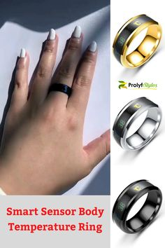 Express your fashion style and keep a check of your temperature. Smart rings may be the next frontier for wearable. This is the best smart ring that you'll never want to take off. This stylish smart ring is design for both men and women. Stainless Steal Smart ring for fashion jewelry. Men's Titanium steel ring for stylish men's fashion look. Temperature Sensitive Rings for Women fashion accessories. #jewelryandaccessories #womensjewelry #rings #mensring #mensjewelry #womensrings #accessories Trendy Accessories, Trendy Jewelry, Women's Jewelry, Fashion Accessories, Fashion Rings, Fashion Jewelry, Fashion Styles, Women's Fashion, Smart Ring