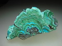Chrysocolla With Malachite Crystals