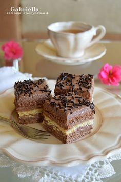 Gabriella kalandjai a konyhában :) Hungarian Desserts, Hungarian Cake, Hungarian Recipes, No Bake Desserts, Dessert Recipes, Cake Cookies, Cupcake Cakes, Cake Bars, Sweet And Salty