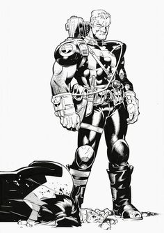 Cable by Chris Bachalo [ X-Men #190 ] via Comic Art