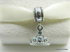 f0facea0d AUTHENTIC PANDORA CHARM MY PRINCESS DANGLE #791117CZ P #Pandora Princess  Tiara,