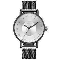 BIDEN 0056 1 4816 Fashion Steel Mesh Band Men Watch with Box (395 MXN) ❤ liked on Polyvore featuring men's fashion, men's jewelry, men's watches, rosegal, mens mesh watches, mens watches jewelry and mens stainless steel watches