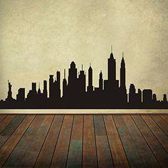 New York City Skyline Wall Decal Vinyl Ctiy Wall Decal New York Wall Art Skyline Sticker Wall Graphic Home Wall Decoration Black DigTour WallArt http://www.amazon.com/dp/B00MHOHRGM/ref=cm_sw_r_pi_dp_Zdp2ub1B3MA9F