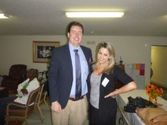#Attorney Evan Guthrie with Krystal Ikonomidis, Charleston School of Law Class of 2014 at the Center For Heirs Property Preservation Center Wills Clinic at the Awendaw Senior Center in Awendaw, SC on Saturday November 16th, 2013. Lawyers and law students providing free wills to Charleston, SC area senior citizens.