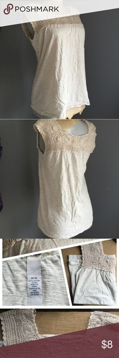 Lucky brand crochet top Creamy and elegant great addition to any closet Tops