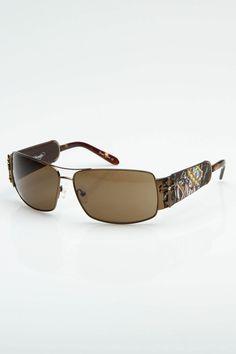 Ed Hardy Ibiza Sunglasses In Cocoa