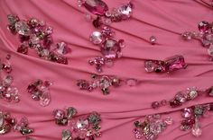 $37,425 New Versace Crystal Embellished Pink Dress | From a collection of rare vintage evening dresses and gowns at https://www.1stdibs.com/fashion/clothing/evening-dresses/