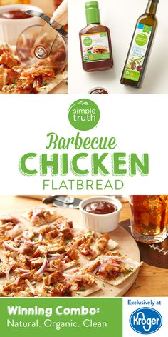 This southwestern-style flatbread – topped with chicken smothered in sweet and spicy barbecue sauce – is what your wild side is craving! New Recipes, Low Carb Recipes, Dinner Recipes, Cooking Recipes, Favorite Recipes, Dinner Ideas, Healthy Recipes, Recipies, What's Cooking