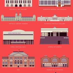 London's free museums and galleries - infographic elements   Visual.ly