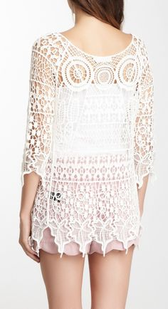 Lace crochet top