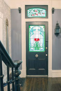 """TOH managing editor Maureen Shelly loves the leaded or stained-glass windows you see in some Victorians and 1920s homes. """"Even a small decorative window really stands out in an otherwise traditional facade. Some homeowners get the look by replacing their front door with one that has leaded or stained glass."""""""