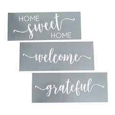 Home Sweet Home, Grateful, Welcome Stencil Set - Word Stencils for Painting on Wood + More – Set of 3 Reusable Script Stencils – Sign Stencils Make Modern DIY Signs + DIY Wall Decor - Phrase Stencils - Buy Online in Saudi Arabia. Stencil Decor, Stencil Wood, Stencil Painting, Stencil Designs, Painting On Wood, Stenciling, Sharpie Designs, Stencil Templates, Diy Home Decor Projects