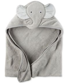 Carter's Baby Boys' Hooded Elephant Towel Bath time is extra snuggly and soft for baby boy with this elephant-themed hooded terry towel from Carter's. Elephant Towel, Baby Elephant Nursery, Elephant Applique, Grey Elephant, Elephant Baby Clothes, Elephant Pattern, The Babys, Baby Elefant, Shower Bebe