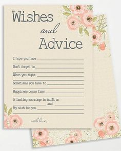 wishes and advice for the bride to be