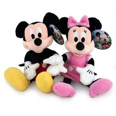 Mickey Mouse + Minnie Mouse 10 inch Plush Pack. $29.99