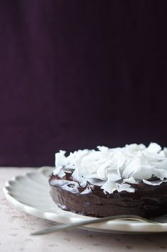 Steamed coconut and chocolate cake