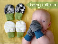 Speckled Owl Studio: Tutorial- Baby Mittens for warmth and safety