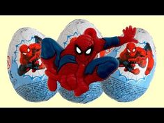 Spiderman Chocolate Surprise Eggs Opening