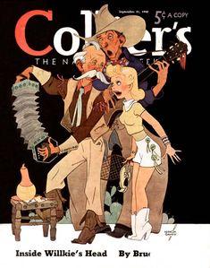 Collier's, September 1940. (Cover art by Vernon Grant)