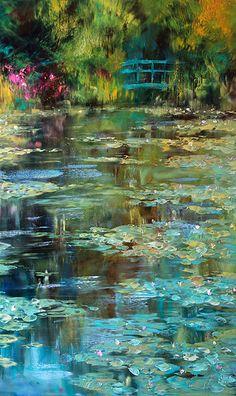 Water Lilies Painting, Lily Painting, Impressionist Art, Renaissance Art, Belle Photo, Landscape Paintings, Monet Paintings, Beautiful Landscapes, Painting Inspiration