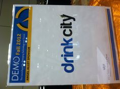 We've arrived @DEMO. Ready to showcase DrinkCity and save the world half off its drinks. #demo2012