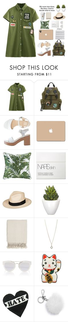 """touch it"" by itstepna ❤ liked on Polyvore featuring Burberry, American Apparel, 3M, Bare Cotton, NARS Cosmetics, Roxy, Pomax, Surya, Dana Reed and Christian Dior"