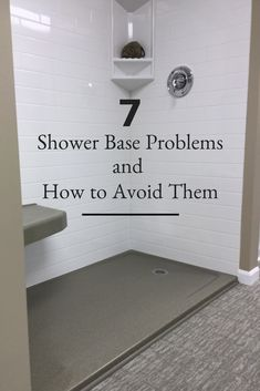 Remodel The 7 Biggest Blunders You Don't Want to Make Choosing a Shower Pan Check out these 7 shower base problems and how you can avoid them! Read this before you start your bathroom remodel! Cheap Bathroom Remodel, Bath Remodel, Budget Bathroom, Small Shower Remodel, Cheap Bathroom Flooring, Cheap Bathrooms, Bathroom Renos, Bathroom Renovations, White Bathroom