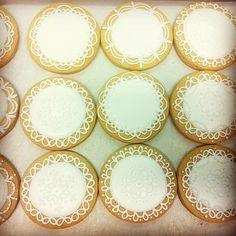 Doilies inspired cookies #sugarcookies #customcookies #lace #winter
