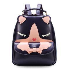 Sale 20% (30.89$) - Cute Cartoon Female College Students Wind Shoulder Bag Backpack