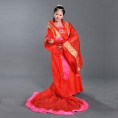 女古装唐装汉服大唐拖尾贵妃服装仙女古装美公主演出服装