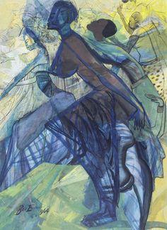 'Africa Dances', 1964 - Ben Enwonwu
