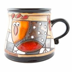 Handmade Pottery Animal Mug 12oz Chicken Mug - Handmade Ceramics and pottery | Teapots, Coffee and Tea Mugs, Vases, Bowls, Plates, Ashtrays | Handmade stoneware - 1