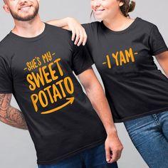 Couple gifts - Matching shirts she's my sweet potato i yam t-shirt swe - Family Panda Matching Couple Gifts, Matching Couples, Matching Shirts, Funny Couple Shirts, Yams, Hoodies, Sweatshirts, Sweet Potato, Cute Tshirts