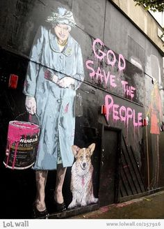 God save the people! by Mr. Brainwash
