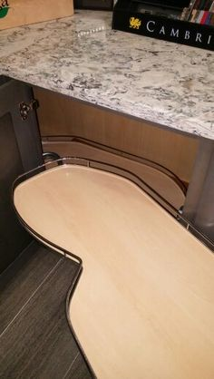 Corner cabinet pullout. See video on phone