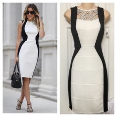 NWT Color Block White & Black Bodycon Dress 2 ‼️NOT ASOS‼️Listed as ASOS  for exposure only. Thick and stretchy. Fully lined! Zippered & color block design for an edgy yet classy fit.   No stains or tears.   We are a smoke-free household  Shoulder:12 in Bust:15 in Waist:13 in Length:36 in  ‼️The measurements are approximation only as I am not a seamstress‼️  Follow me  INSTAGRAM: augustpinkstyle  TWITTER: augustpinkstyle  PINTEREST: augustpinkstyle YOUTUBE CHANNEL: augustpinkstyle WEBSITE…
