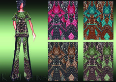 Bug jeans - Estampa colorida por Ká Martins para Natan Tecidos.