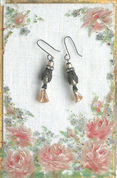 Fluted Petals Earrings OAK by sweetruin on Etsy, $38.00