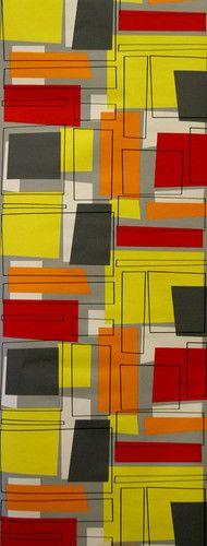 retro wallpaper yellow orange red | eBay
